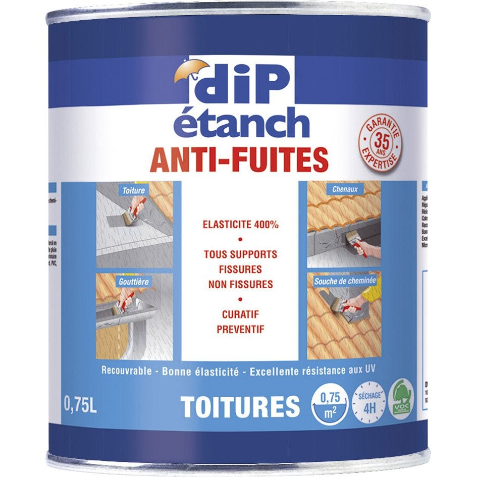 Rev tement d 39 tanch it toiture anti fuites dip blanc 0 for Anti fuite piscine