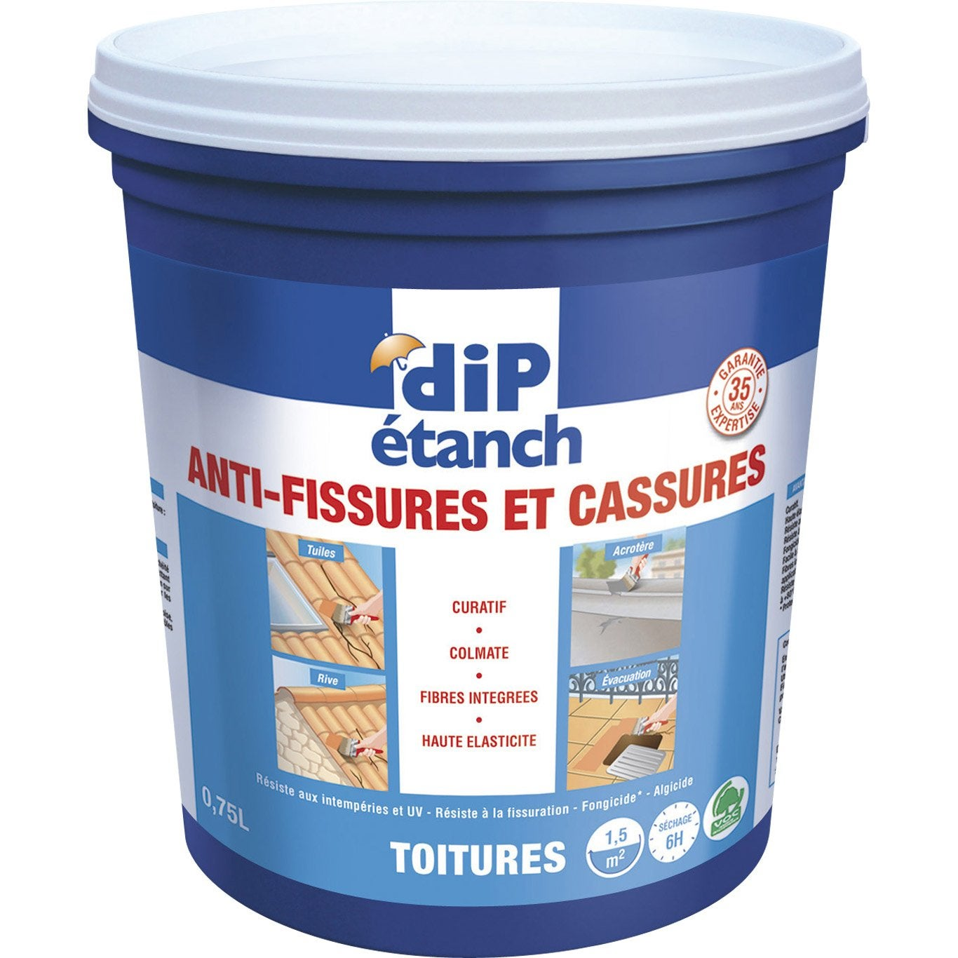 Rev tement d 39 tanch it anti fissures dip terre cuite leroy merlin - Dip etanche anti infiltration ...