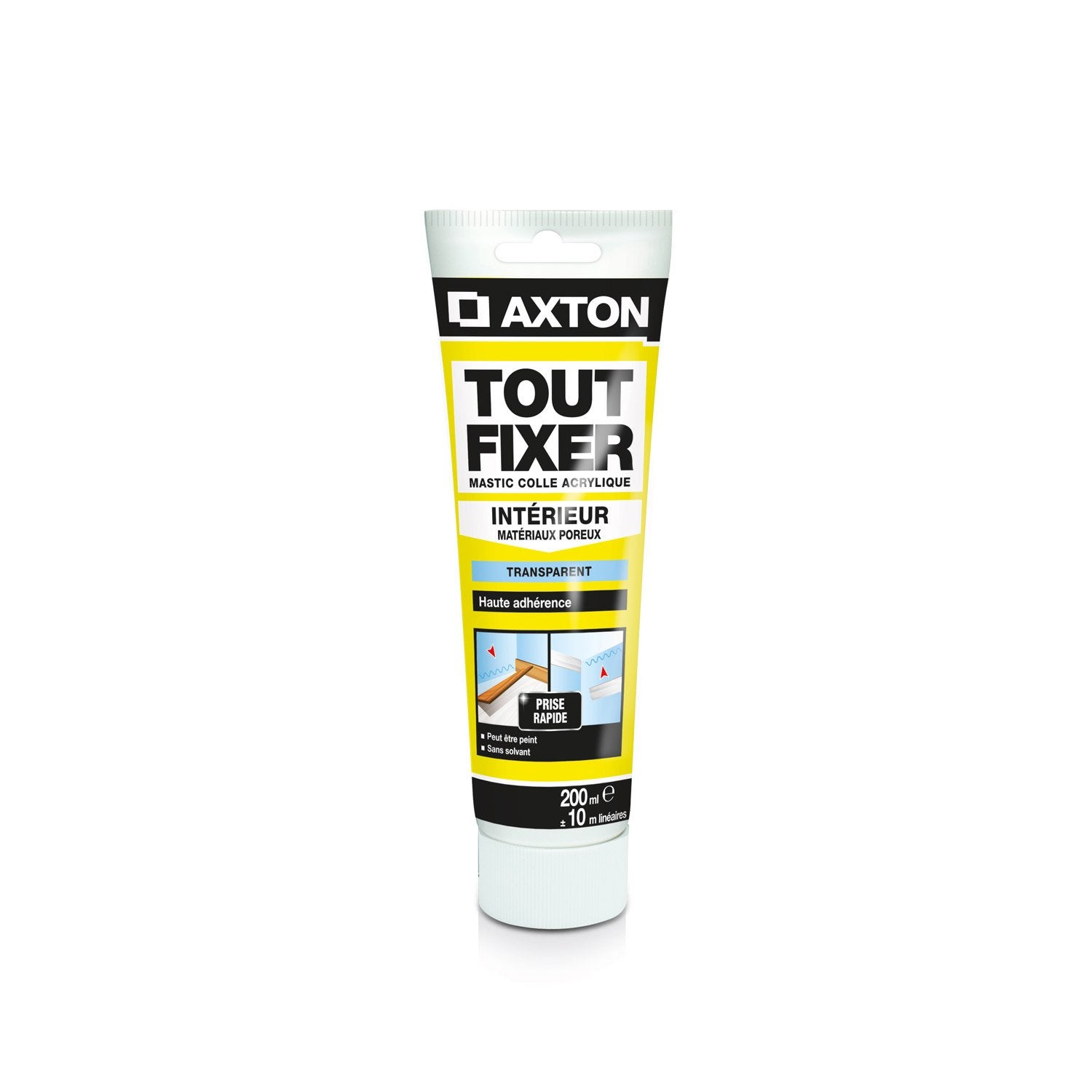 colle mastic tout fixer axton 200 ml leroy merlin. Black Bedroom Furniture Sets. Home Design Ideas