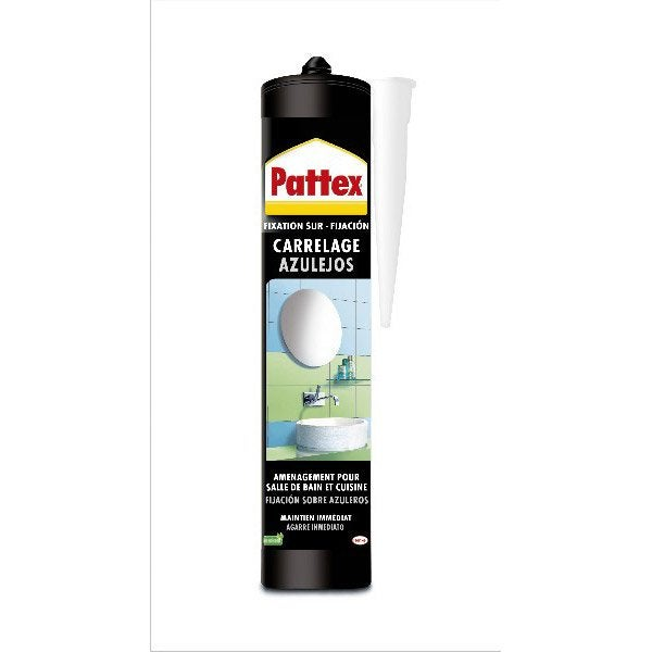 Colle mastic carrelages pattex 450 g leroy merlin for Colle carrelage exterieur leroy merlin