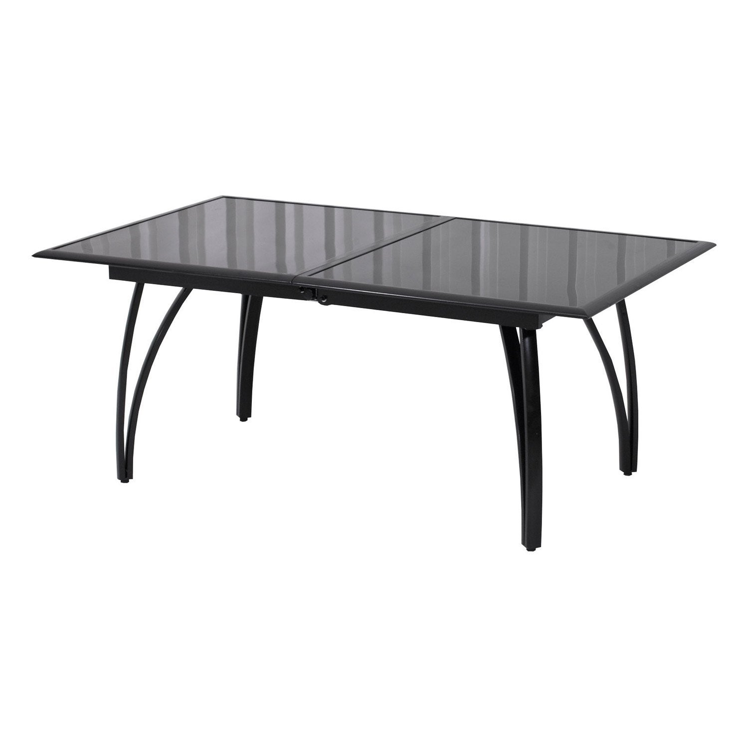 Table de jardin rectangulaire noir 10 personnes leroy merlin for Table exterieur 10 personnes