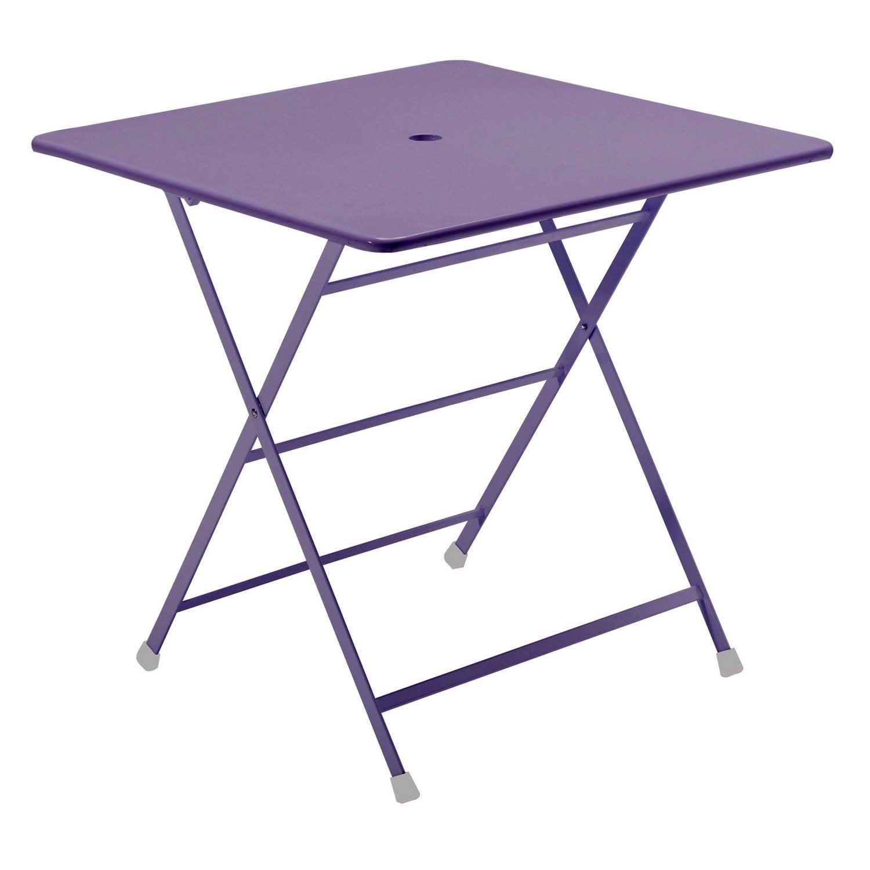 table de jardin cassis carr e lilas 2 personnes leroy merlin. Black Bedroom Furniture Sets. Home Design Ideas
