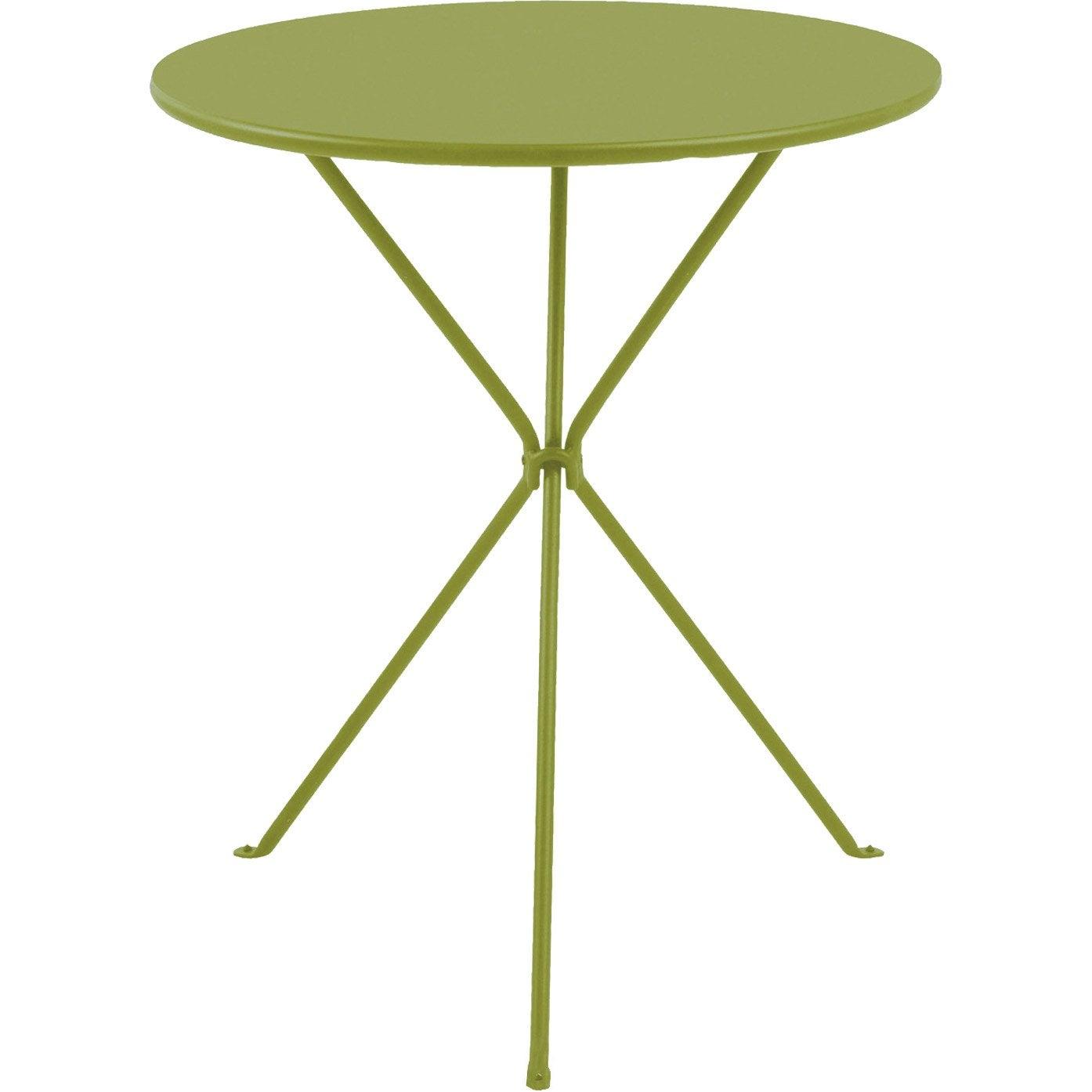 Table basse gu ridon ronde vert 2 personnes leroy merlin - Table basse exterieur leroy merlin ...