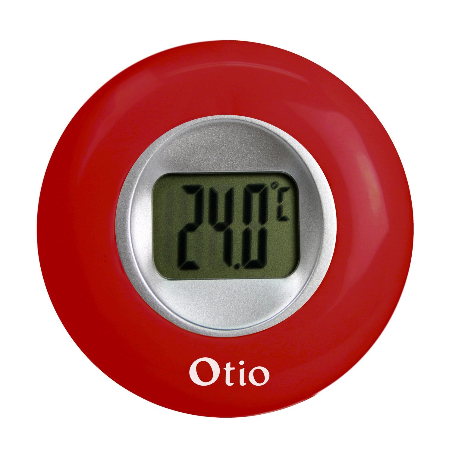 Thermom tre int rieur rouge otio leroy merlin for Thermometre piscine otio