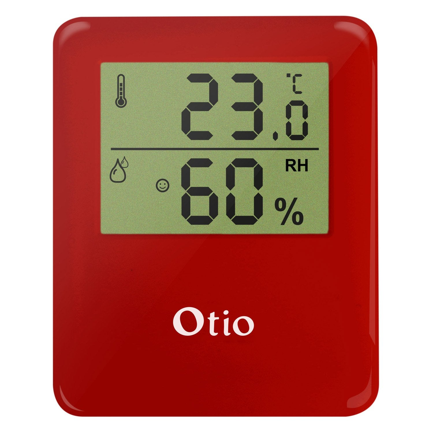 Thermom tre hygrom tre int rieur rouge otio leroy merlin for Thermometre interieur digital