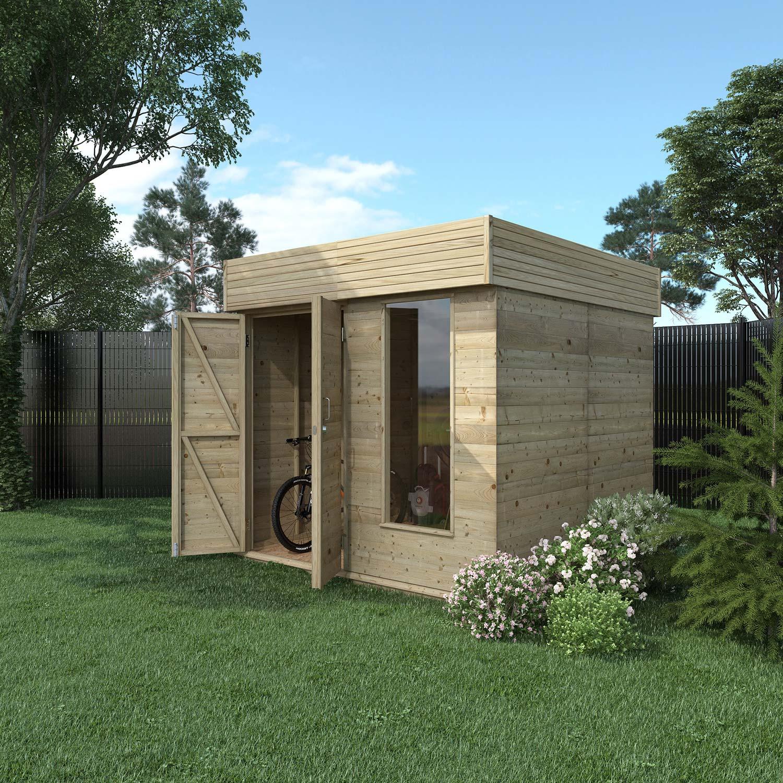 abri bois hutta contemporain 4 8 m mm leroy merlin. Black Bedroom Furniture Sets. Home Design Ideas