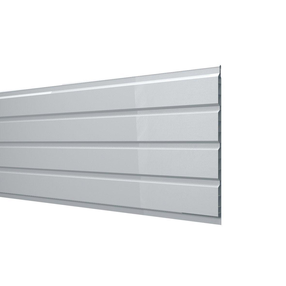 Sous face de toiture sf2503b blanc pvc l 3 m leroy merlin - Prix pose climatisation leroy merlin ...