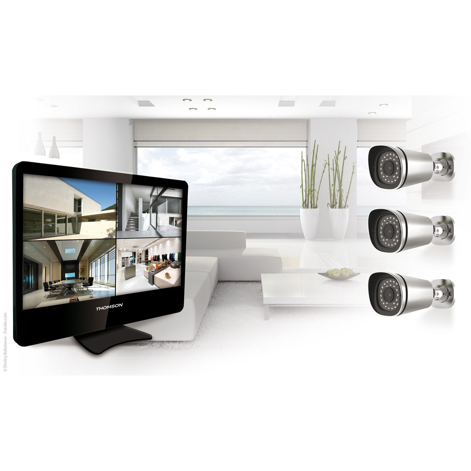 kit de vid osurveillance connect filaire int rieur. Black Bedroom Furniture Sets. Home Design Ideas