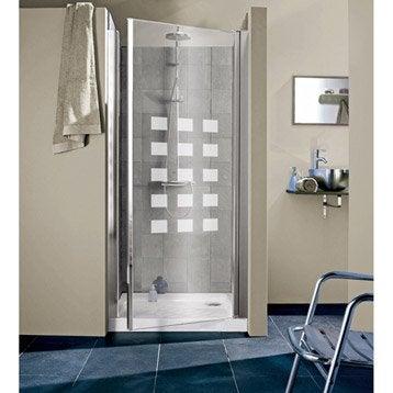 Porte de douche pivotante thala hekla verre de s curit s rigraphi leroy - Portes de douche en verre ...