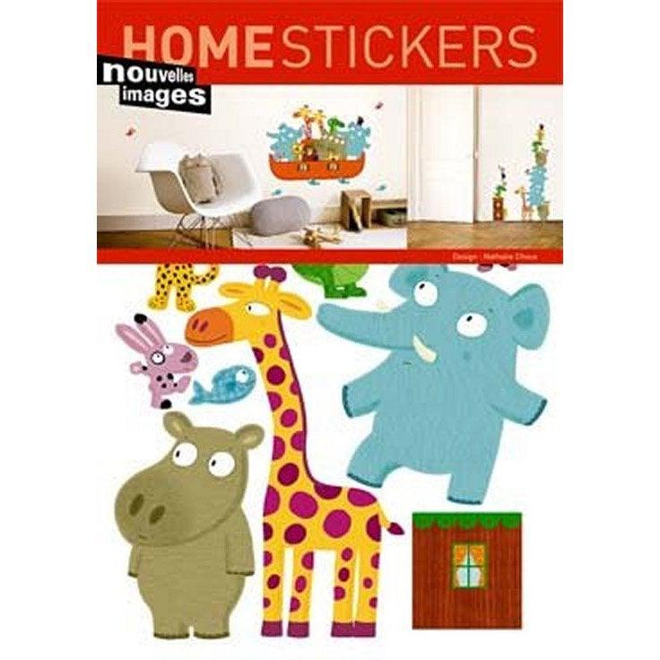 sticker arche de noe 49 x 69. Black Bedroom Furniture Sets. Home Design Ideas