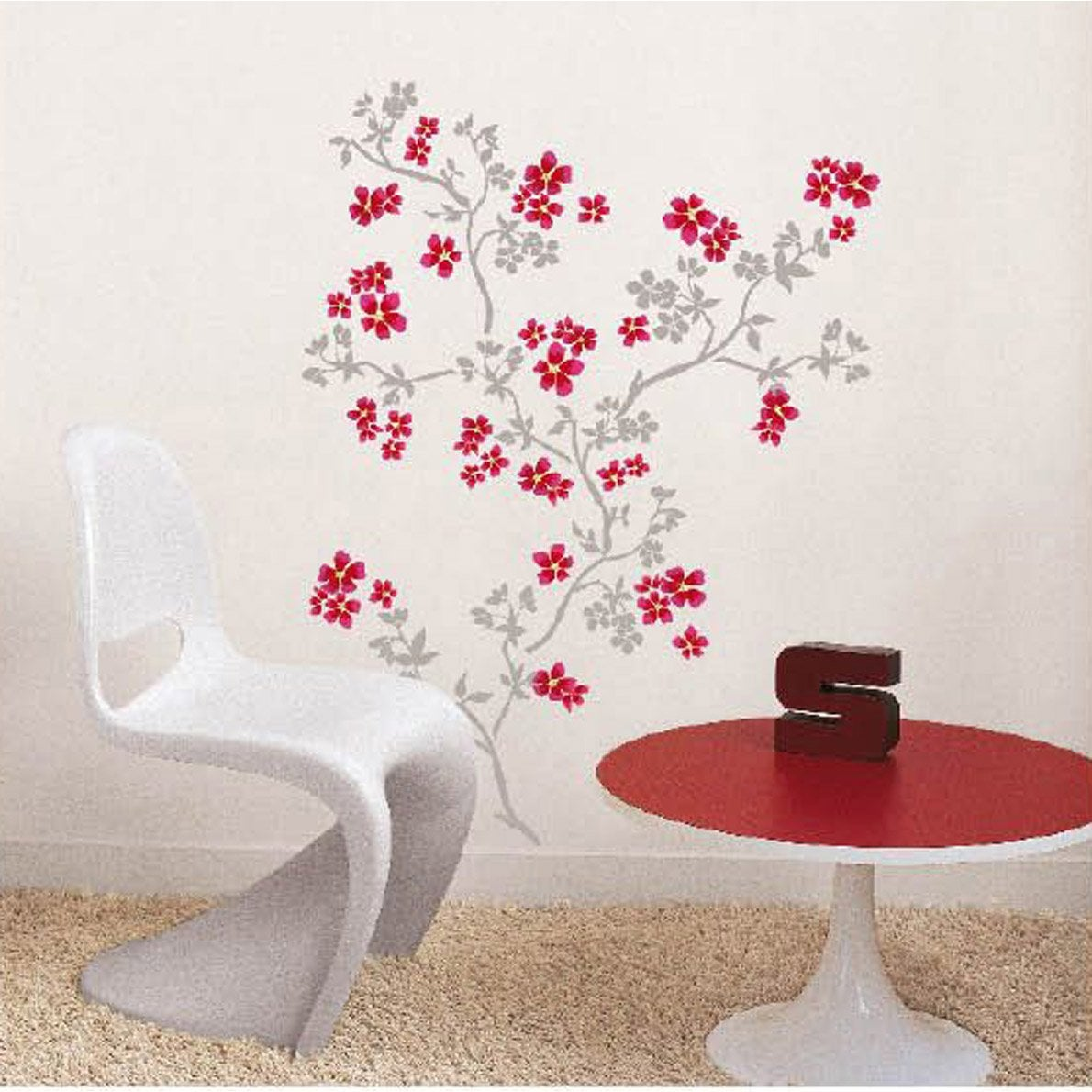 sticker cerisier du japon 49 cm x 69 cm leroy merlin. Black Bedroom Furniture Sets. Home Design Ideas