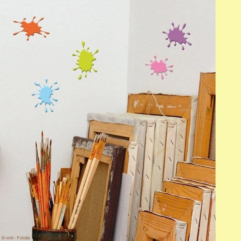 sticker t ches de peinture 15 x 23 5 cm leroy merlin. Black Bedroom Furniture Sets. Home Design Ideas