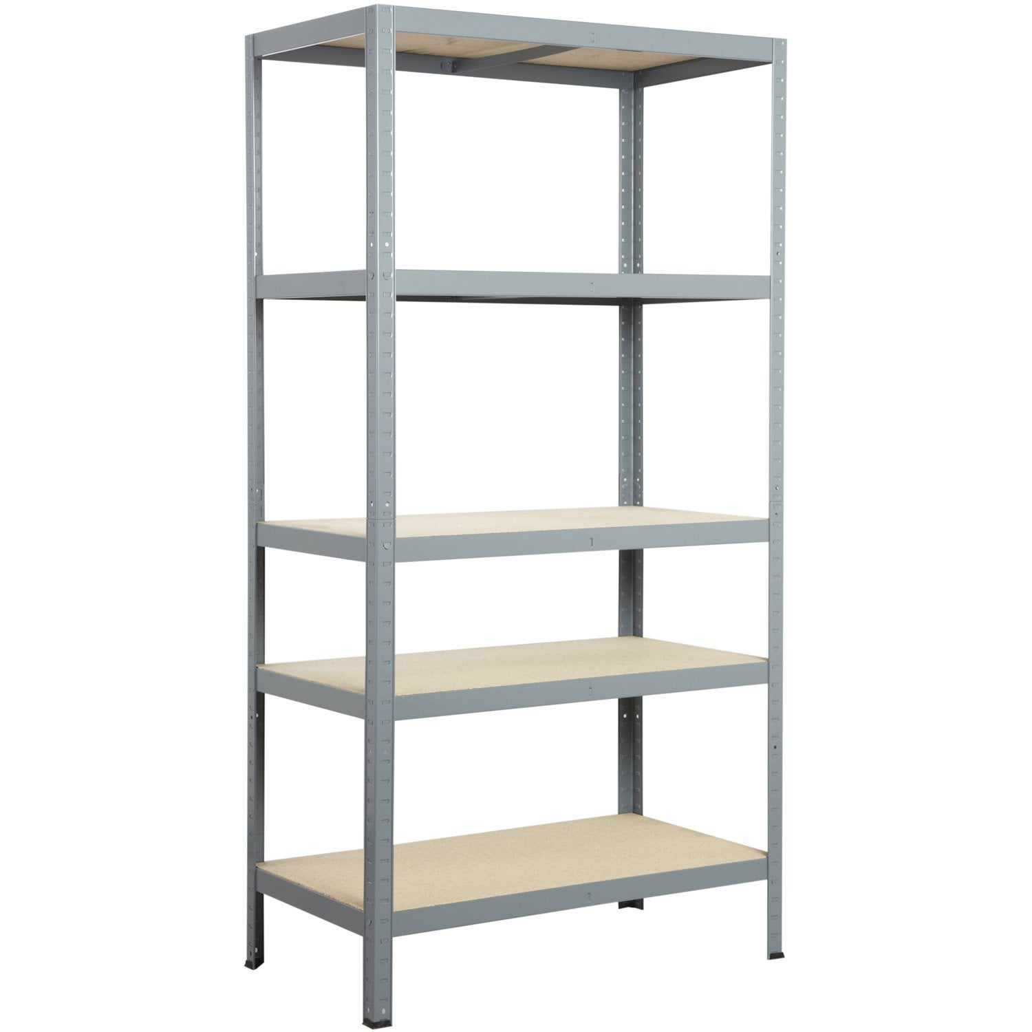 Etag re en acier epoxy gris 5 tablettes avasco strong - Etagere metal leroy merlin ...