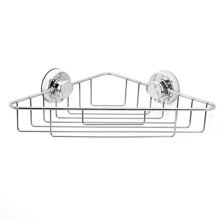 Etag re de bain douche d 39 angle ventouser chrom simply lock leroy - Rangement douche angle ...