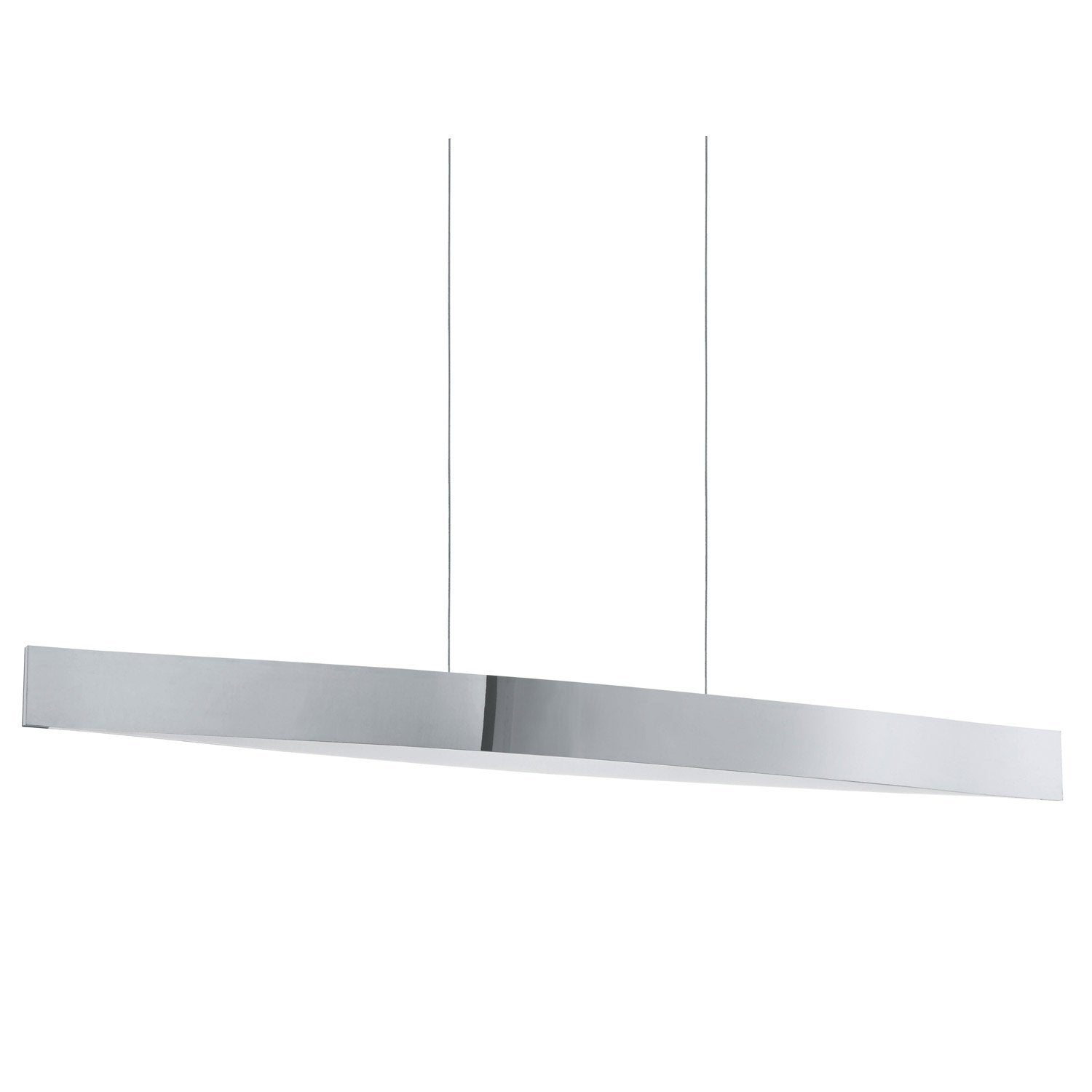 Suspension contemporain fornes m tal chrom 4 x 6 w eglo for Suspension contemporaine