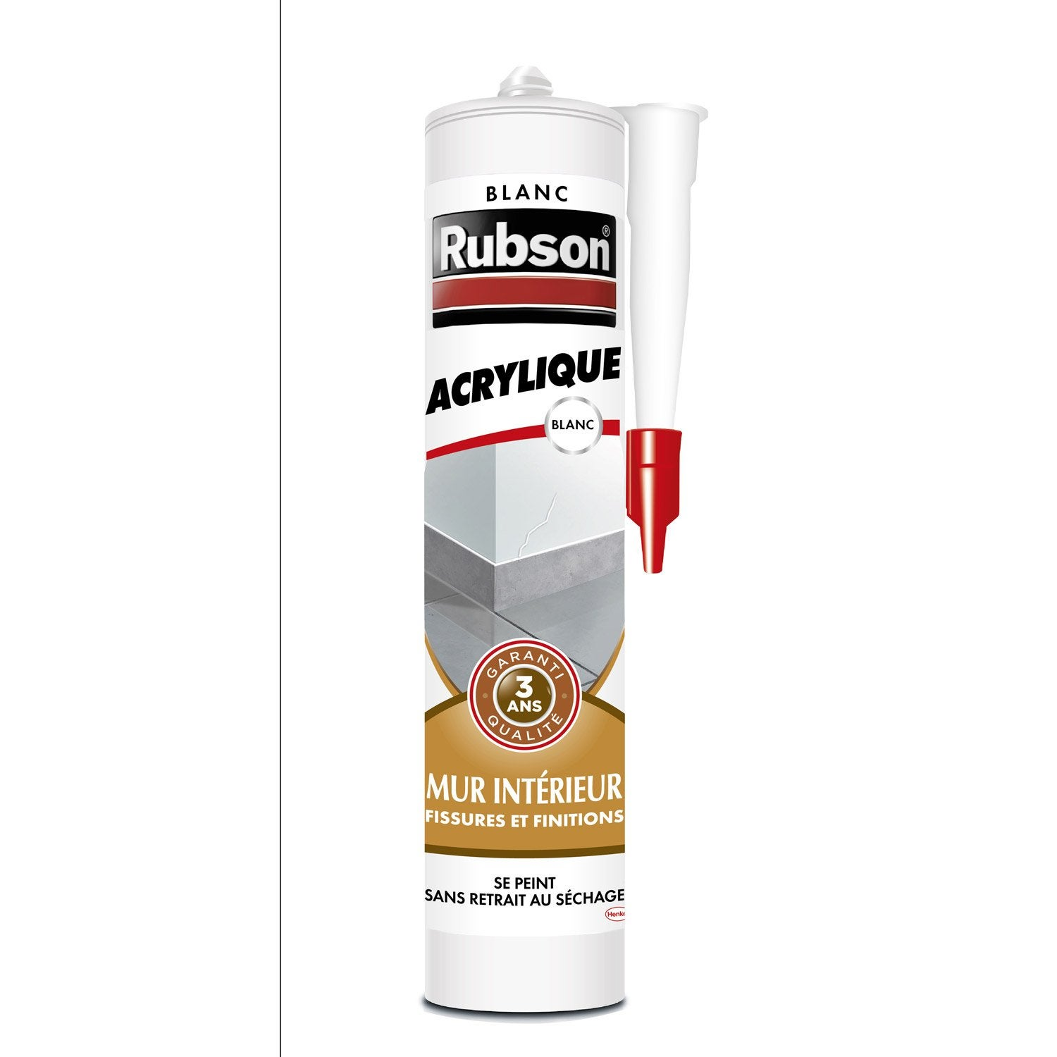 Mastic d 39 tanch it rubson mur int rieur finition 280 ml for Mastic fenetre bois
