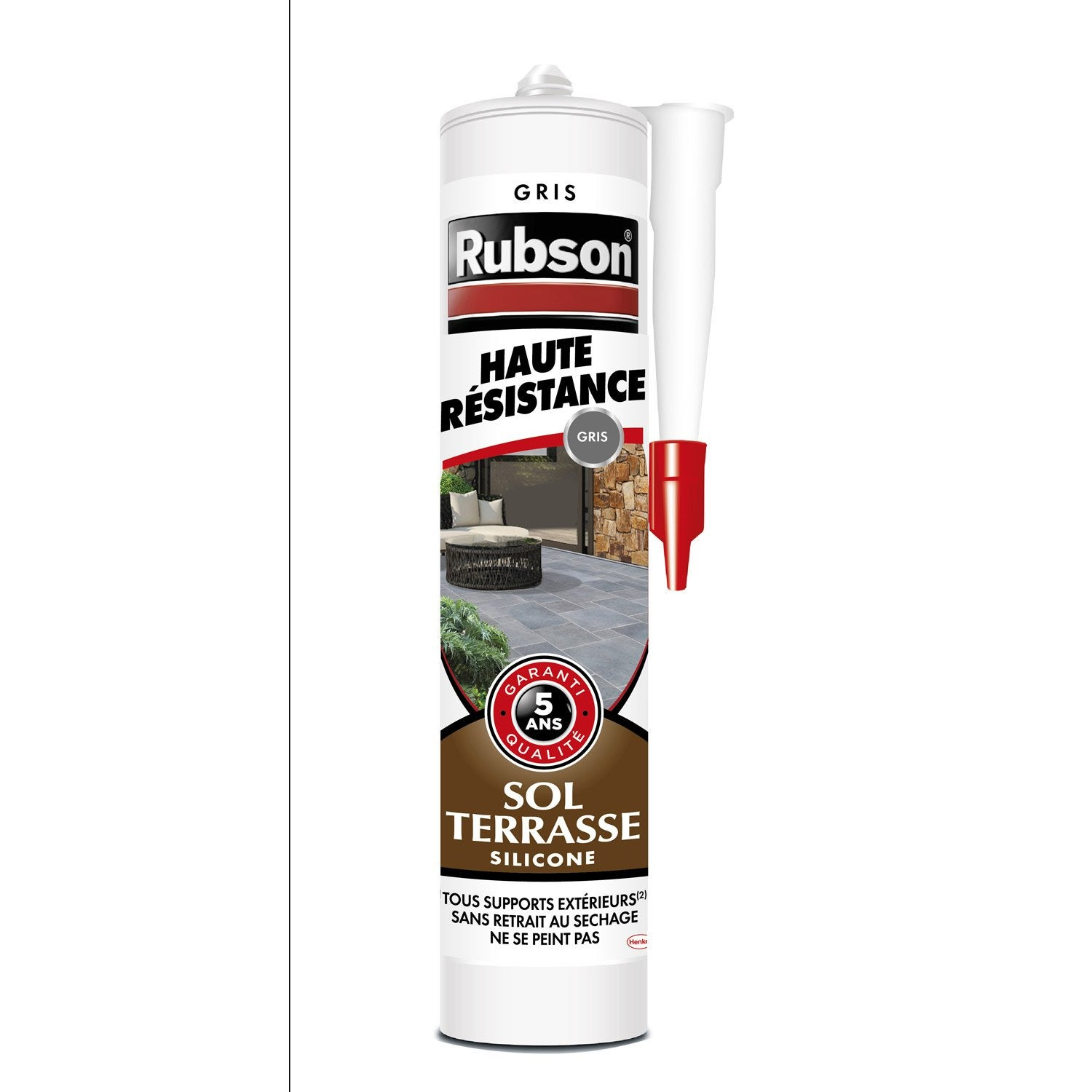 mastic d 39 tanch it rubson sol terrasse haute r sistance 280 ml gris leroy merlin. Black Bedroom Furniture Sets. Home Design Ideas