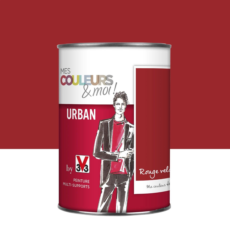 Peinture rouge velours v33 mes couleurs et moi urban - Peinture v33 leroy merlin ...