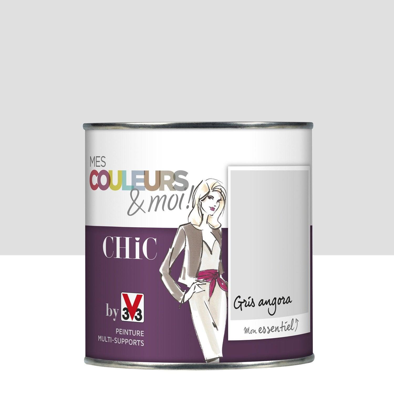 Peinture gris angora v33 mes couleurs et moi chic 0 5 l - Peinture magnetique leroy merlin ...