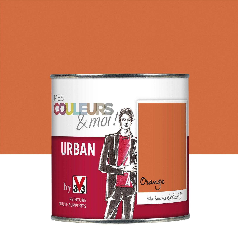 Peinture orange v33 mes couleurs et moi urban 0 5 l - Peinture v33 leroy merlin ...