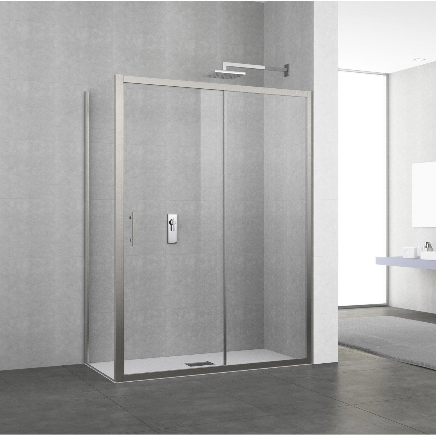 Porte coulissante leroymerlin maison design for Leroy merlin porte douche