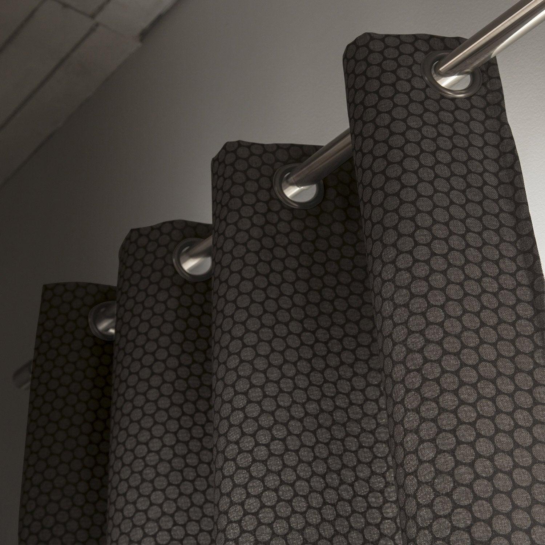 rideau obscurcissant gomette noir x cm. Black Bedroom Furniture Sets. Home Design Ideas