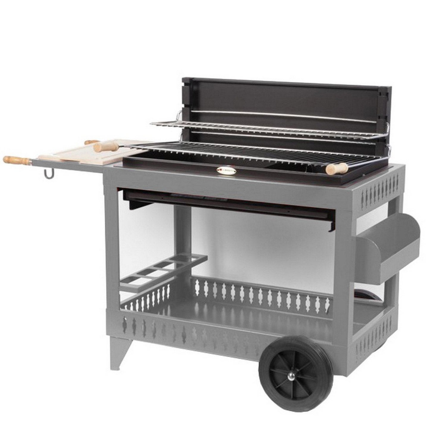 Barbecue au charbon de bois lemarquier iholdy gris leroy for Barbecue le roy merlin