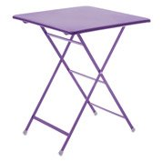 Table de jardin Rainbow carrée lilas 2 personnes