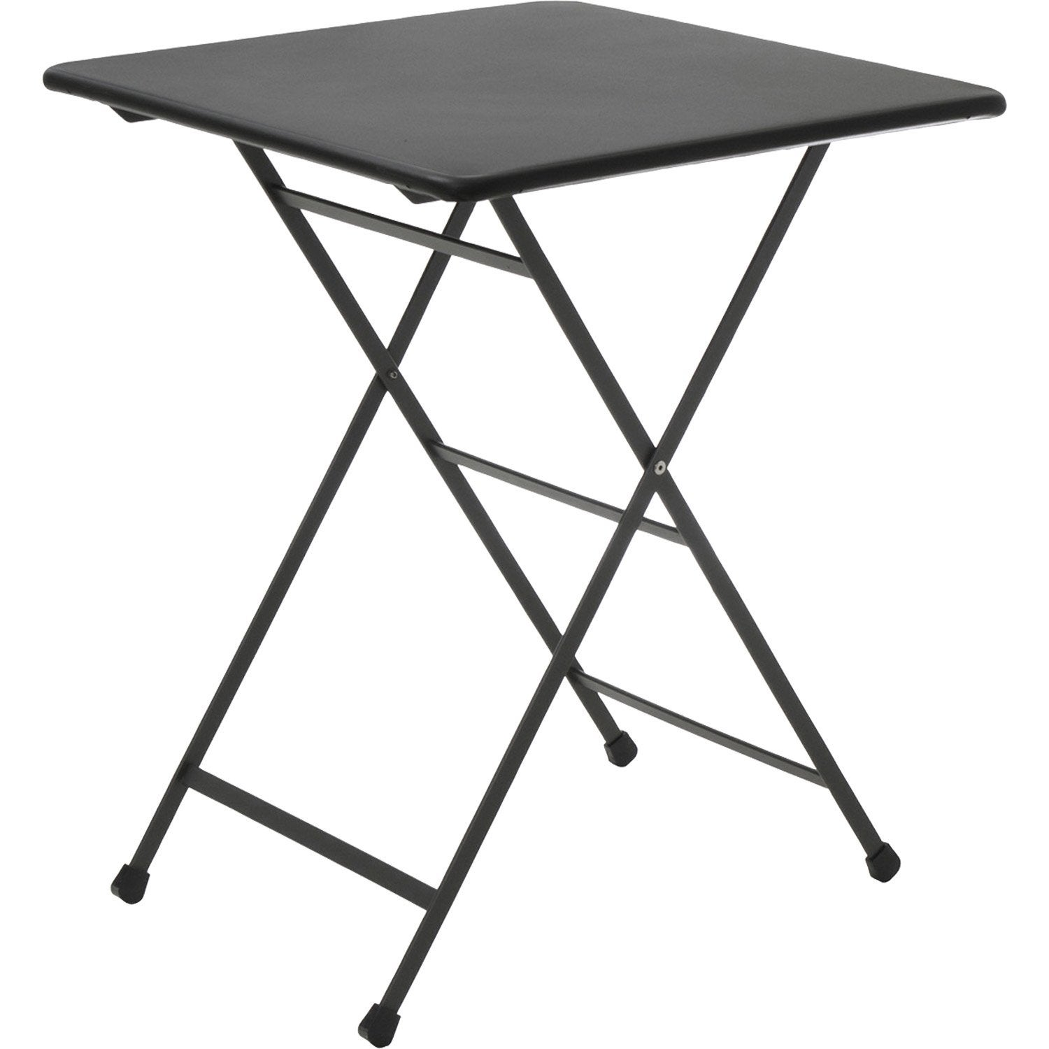 Table de jardin rainbow carr e gris 2 personnes leroy merlin - Leroy merlin table pliante ...