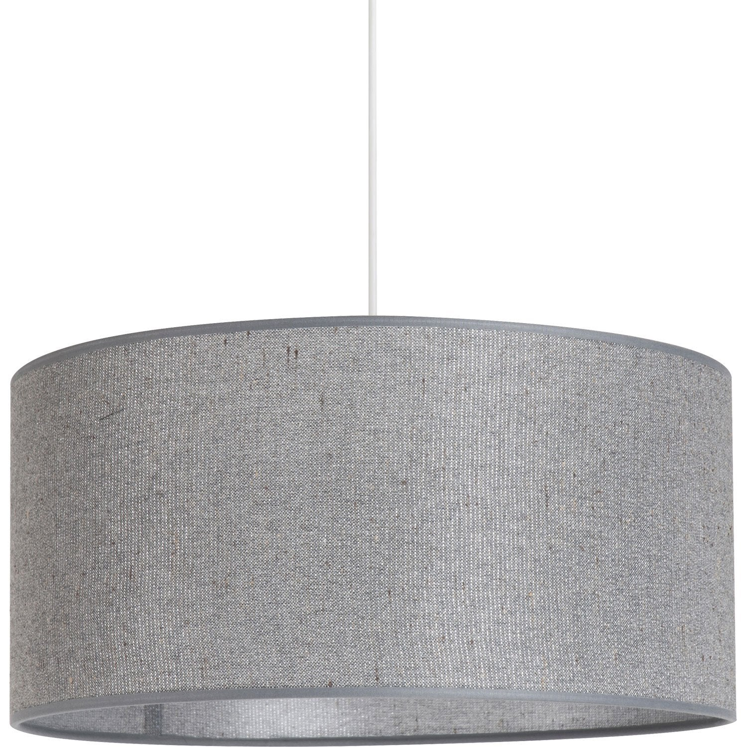 Suspension moderne gris paillettes coton gris 1 x 100 w - Abat jour suspension leroy merlin ...