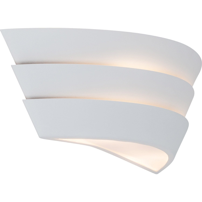 applique design e14 ship m tal blanc 2 brilliant leroy merlin. Black Bedroom Furniture Sets. Home Design Ideas