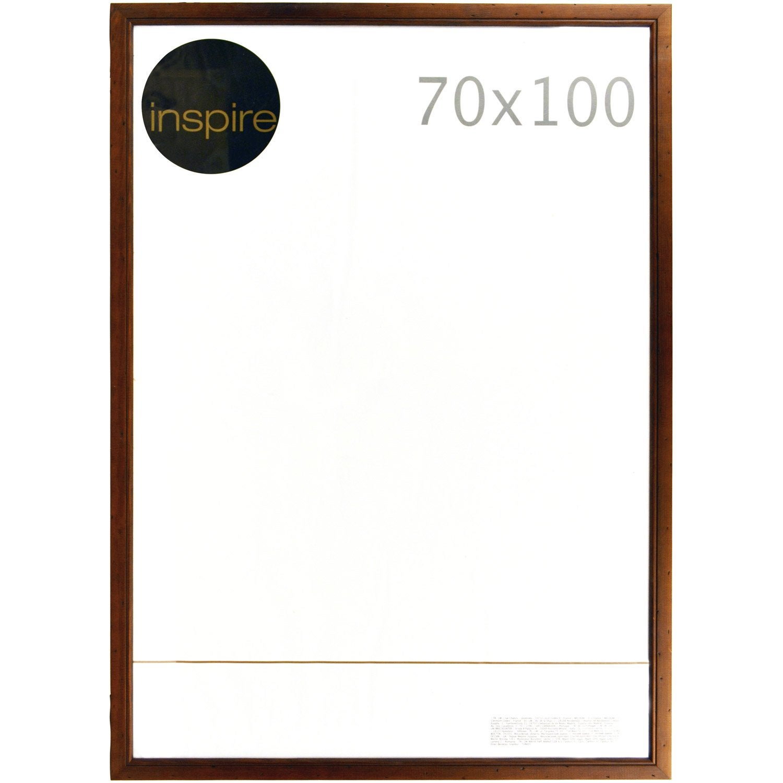 cadre saranca 70 x 100 cm marron leroy merlin. Black Bedroom Furniture Sets. Home Design Ideas