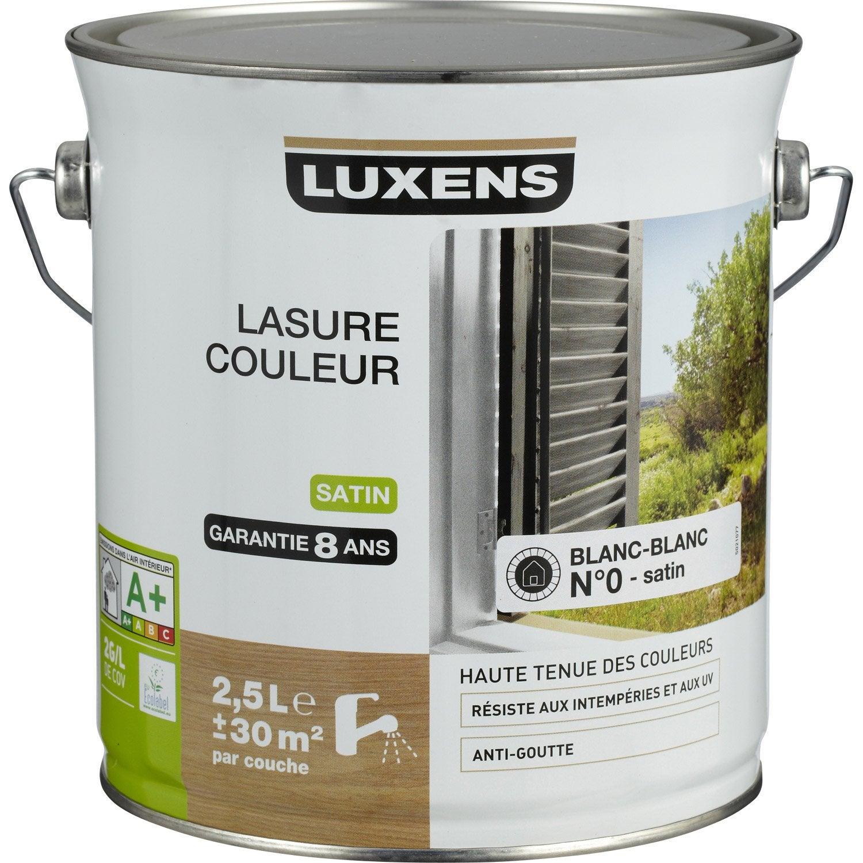 Lasure luxens 2 5 l blanc leroy merlin - Lasure leroy merlin ...