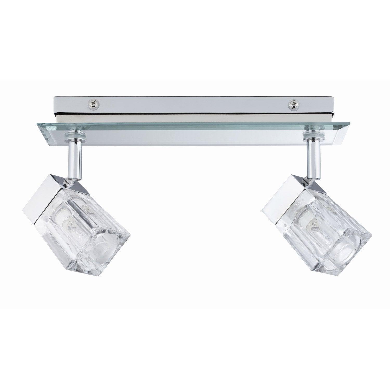 rampe 2 spots trabani halog ne 2 x 20 w g9 leroy merlin. Black Bedroom Furniture Sets. Home Design Ideas