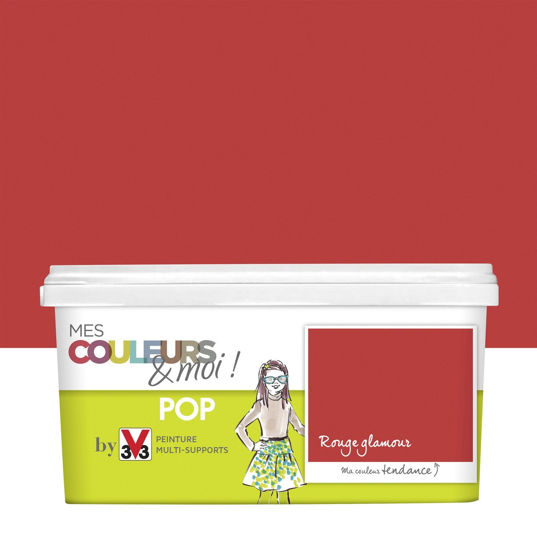 Peinture rouge glamour v33 mes couleurs et moi pop 2 5 l - Peinture v33 leroy merlin ...