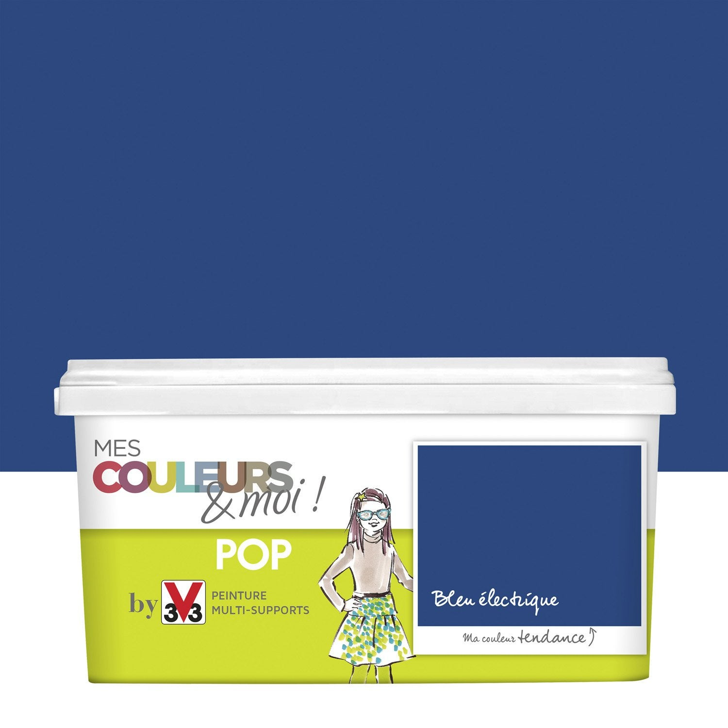 peinture bleu lectrique v33 mes couleurs et moi pop 2 5 l leroy merlin. Black Bedroom Furniture Sets. Home Design Ideas