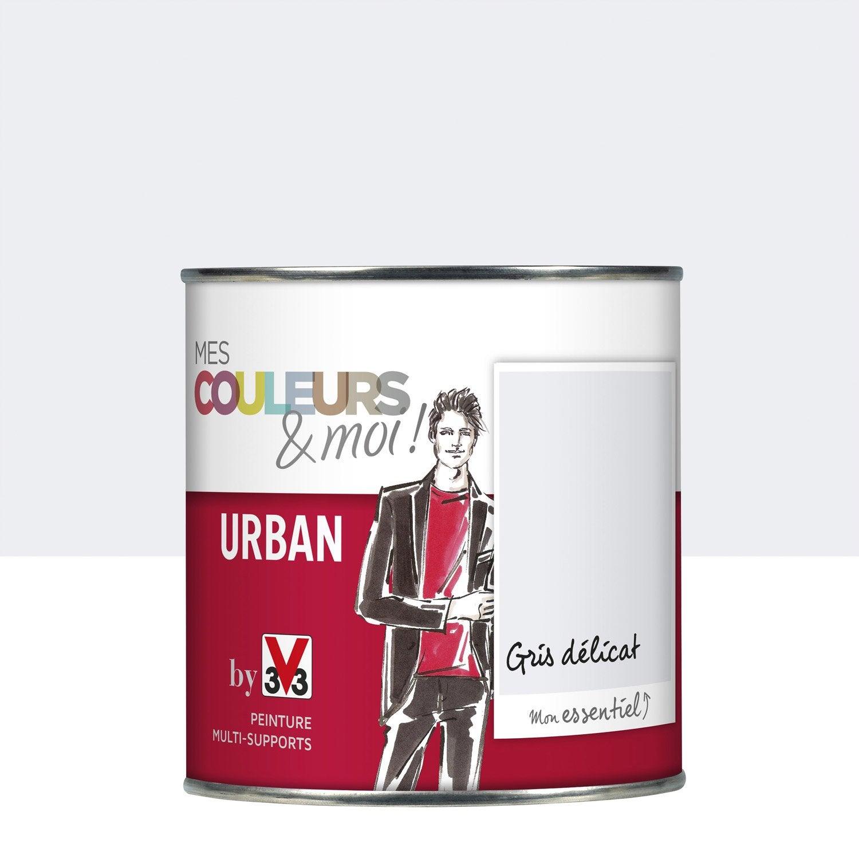 peinture gris d licat v33 mes couleurs et moi urban 0 5 l leroy merlin. Black Bedroom Furniture Sets. Home Design Ideas