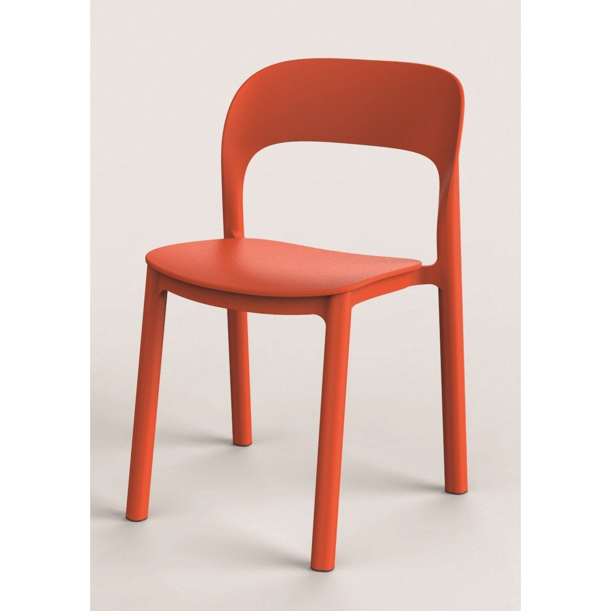 Chaise de jardin en r sine plastique ona orange leroy for Chaise de cuisine plastique