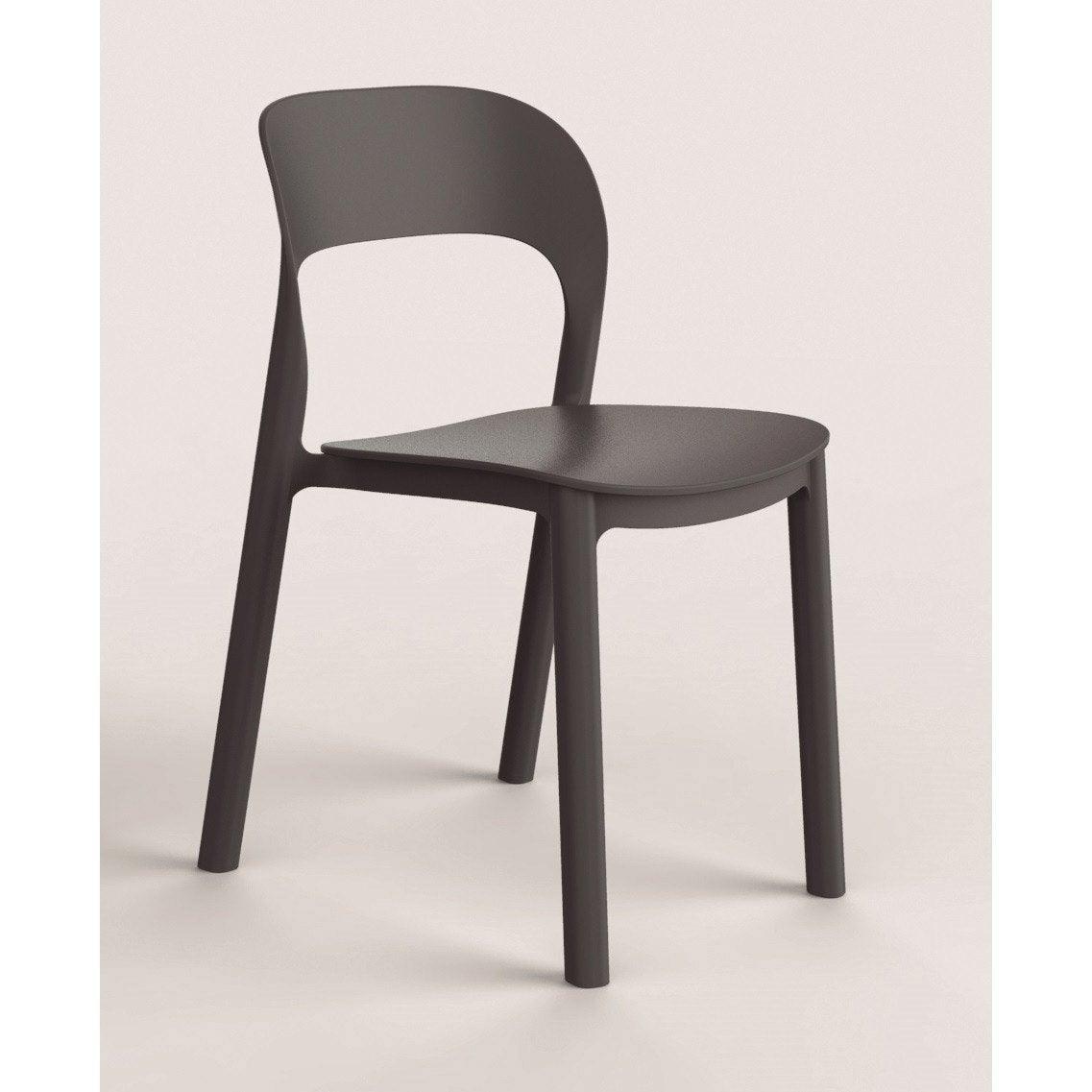 chaise de jardin en r sine inject e ona gris leroy merlin. Black Bedroom Furniture Sets. Home Design Ideas