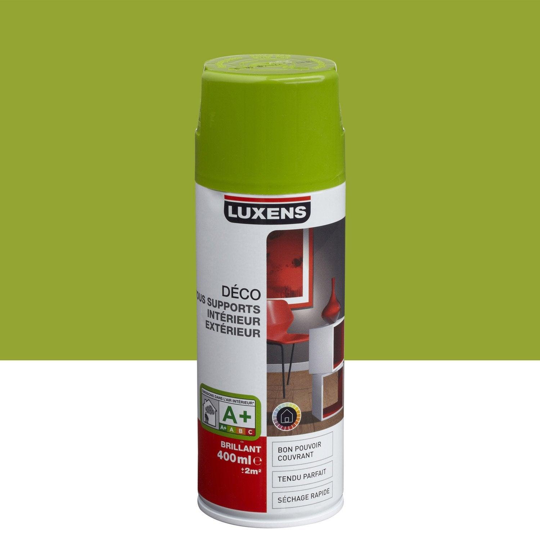 Peinture a rosol brillant luxens vert pistache n 3 0 4 l - Peinture luxens leroy merlin ...