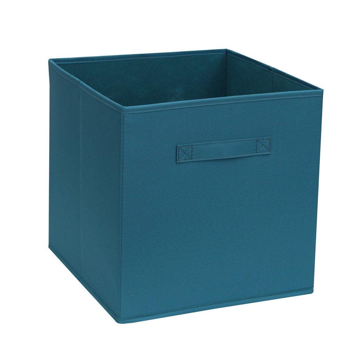 bo te de rangement bleu x x cm leroy merlin. Black Bedroom Furniture Sets. Home Design Ideas