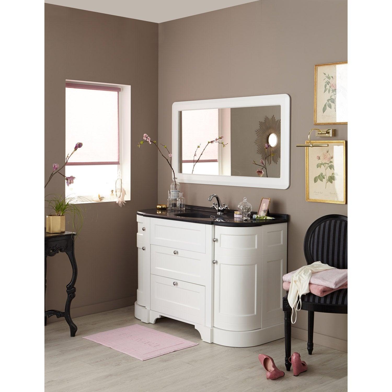 meuble de salle de bains plus de 120 blanc charleston leroy merlin. Black Bedroom Furniture Sets. Home Design Ideas