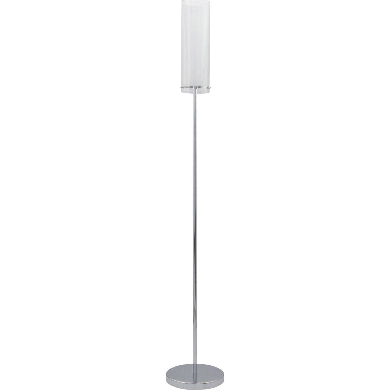 Lampadaire pinto eglo 147 cm blanc 60 w leroy merlin - Lampe baladeuse leroy merlin ...