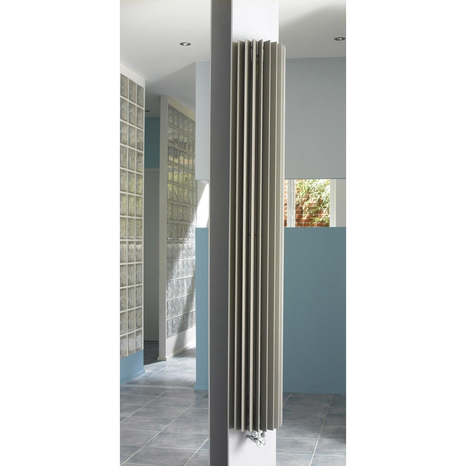 Radiateur decoratif fabuleux fassane vertical hxd double for Radiatori leroy merlin