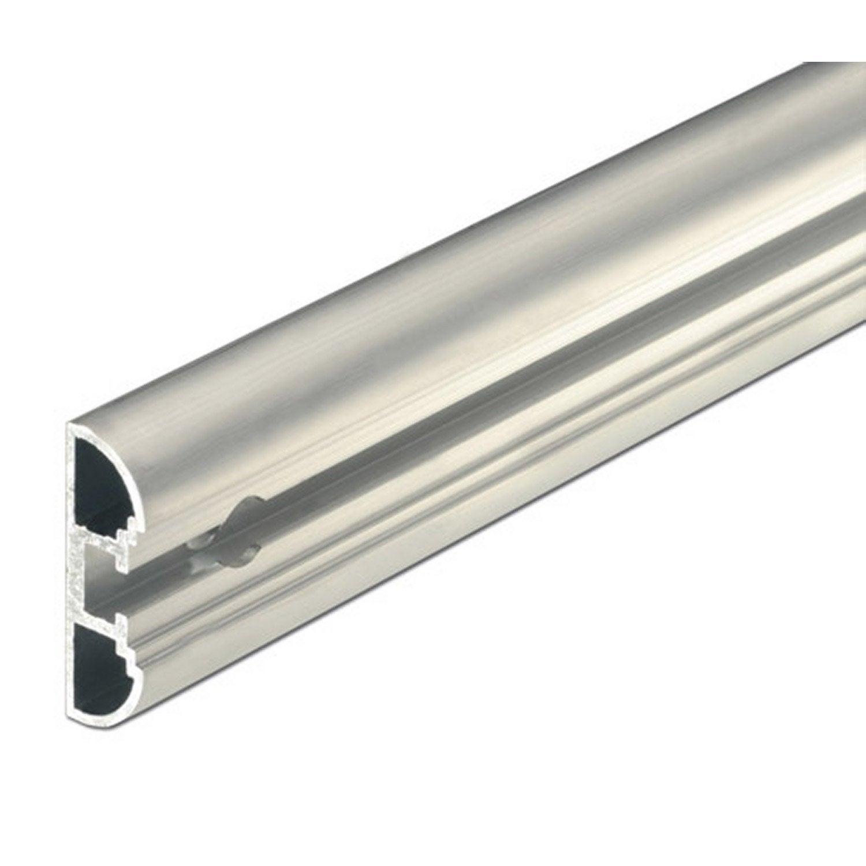 Rail aluminium brut l 1 m x l cm leroy merlin for Malette aluminium leroy merlin