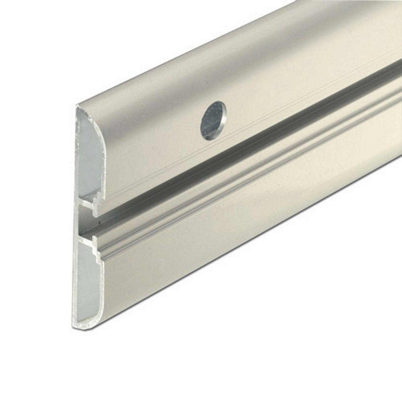 Rail aluminium brut l 1 5 m x l 6 cm leroy merlin for Malette aluminium leroy merlin