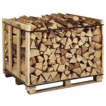 Bois de chauffage b ches 33cm 1m3 st re leroy merlin - 1 stere de bois en kg ...