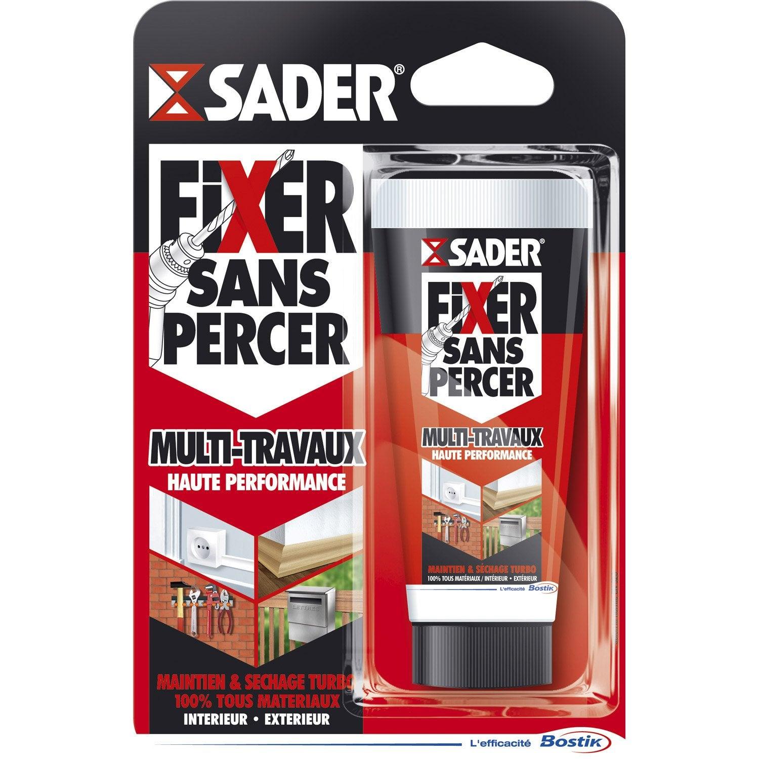 Colle mastic fixer sans percer multitravaux sader 50g - Accrocher un tableau sans percer ...