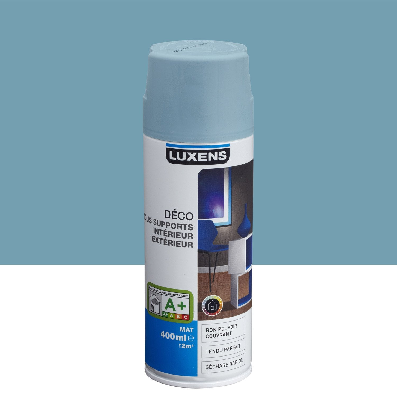 Peinture a rosol mat luxens bleu baltique n 3 0 4 l - Peinture glycero leroy merlin ...