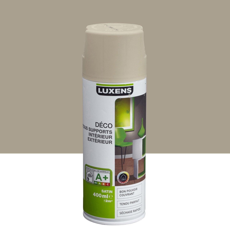 Peinture a rosol satin luxens gris dor n 5 0 4 l leroy merlin for Peinture tout support